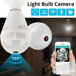 Thumb wifi bulb lamp ip camera icsee xmeye app hd full 1080p 360 degree vr audio card