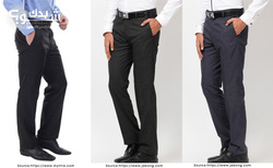 Thumb myntra arrow men black striped smart fit trousers jabong arrow new york black formal trousers jabong arrow new york navy blue formal trousers