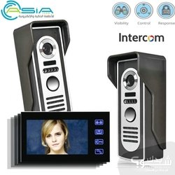 Thumb free shipping 4 3 inch video door phone doorbell intercom kit 1 camera 1 monitor night